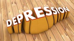 Word depressie en parketvloer royalty-vrije illustratie