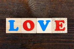 Word des blocs en bois Photos libres de droits
