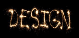 Word design written sparkler Stock Images