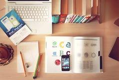 Word Desk Stock Photos