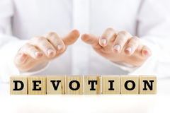 The word - Devotion - on wooden blocks Royalty Free Stock Image