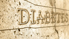 Word diabetes on wall stock footage