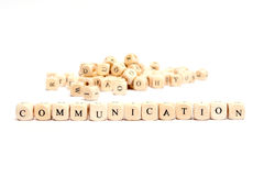 Word with dice communication Stock Photography