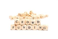 Word with dice crowd funding Stock Photography