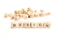 Word with dice design Royalty Free Stock Photography