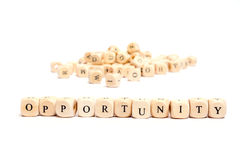 Word with dice opportunity Royalty Free Stock Image
