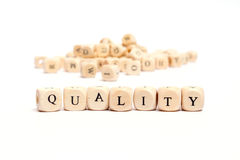 Word with dice quality Royalty Free Stock Photo