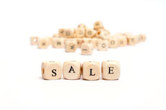 Word with dice sale Royalty Free Stock Image