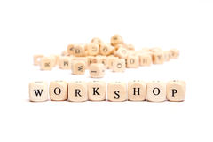 Word with dice workshop Stock Images