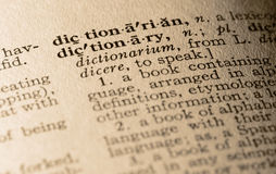 The word dictionary Stock Image