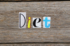 The word Diet Royalty Free Stock Photos