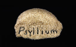 Word on daily dietary fiber supplement psyllium Stock Images
