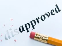 Word disapproved and approved Stock Image