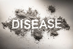 Word disease as concept for illness, sickness, hygiene, health a Stock Photo
