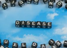 The word Disease. On the sky background royalty free stock images