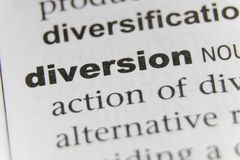 The Word Diversion Close Up stock photo