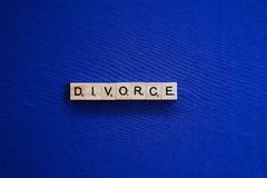 Divorce on isolated background. royalty free stock image