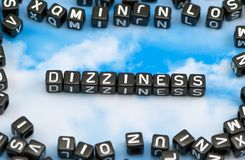 The word Dizziness Royalty Free Stock Image
