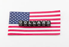 Word of dollars concept Royalty Free Stock Image