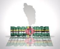 Word Dominique sur un fond de carte illustration libre de droits