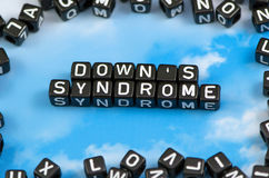 The word Down`s syndrome royalty free stock image