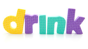 Word drink in foam letters Stock Photography