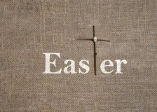 Word Easter with Cross T Stock Photo