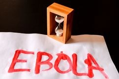 Word Ebola Text Royalty Free Stock Photography