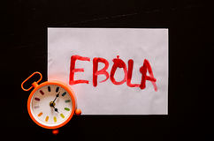 Word Ebola Text Royalty Free Stock Photography