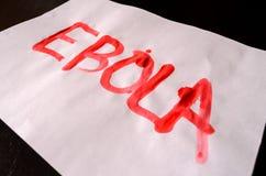Word Ebola Text Royalty Free Stock Image
