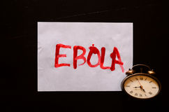 Word Ebola Text Royalty Free Stock Images