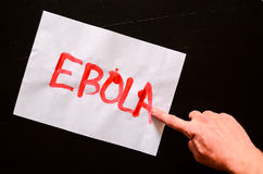 Word Ebola Text Stock Images