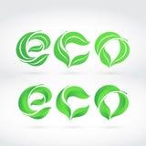 Word ECO composé des feuilles. Images stock
