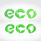 Word ECO composed from the leaves. Stock Images