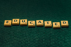 Word Educated spelled Stock Image