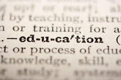 Word education Royalty Free Stock Photography