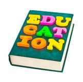 Word Education on book Stock Photography