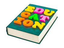 Word Education on book Stock Photo