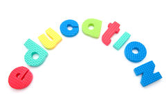 Word education in foam letters Royalty Free Stock Image