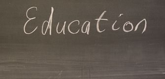 Word education written on the board. Royalty Free Stock Photography