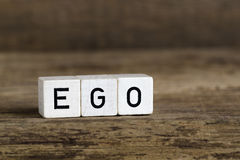 The word ego written in cubes Royalty Free Stock Image