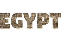Word EGYPT over symbolic places. Royalty Free Stock Photos