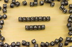 The word electric chair Stock Photo