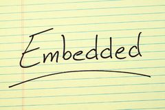 Embedded On A Yellow Legal Pad Royalty Free Stock Photography