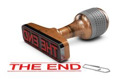 The End. Word Over White Background Stock Illustration