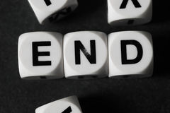 Word end on toy cubes Royalty Free Stock Photography