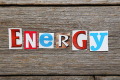 The word energy Royalty Free Stock Image