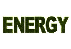 Word 'energy' in grass Stock Photo