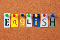 The Word English Royalty Free Stock Image