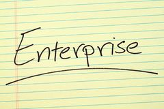 Enterprise On A Yellow Legal Pad Royalty Free Stock Images
